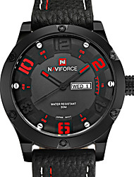 2016 Luxury Brand NAVIFORCE Watch Men Sports Watches Men's Quartz Leather  Wrist Watch Montres hommes Cool Watch Unique Watch
