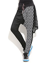 Women's Striped Black Skinny / Harem Pants,Plus Size / Street chic