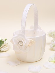 "Flower Basket Satin 9"" (23 cm) Faux Pearl 1"