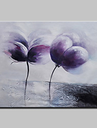 Hand-Painted Abstract  Modern Blooming Flowers Knife Oil Painting On Canvas Ready To Hang One Panel 80x120cm
