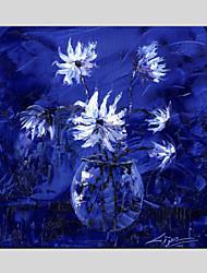 Peint à la main Nature morte / A fleurs/BotaniqueModern / Classique / Traditionnel / Pastoral / Style européen Un Panneau ToilePeinture à