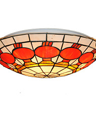 16inch Retro Tiffany Ceiling Lamp Glass Shade Flush Mount Living Room Dining Room light Fixture