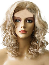 Short Length Curly Hair European Weave Light Blonde Hair Wig