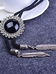 Tie Artificial Crystal Gem Men Shirt Tie Necktie Alloy Necklace