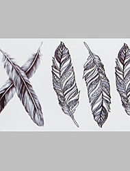 Fashion Tattoo Feather Waterproof Tattoo Stickers