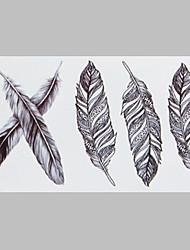 tatouage plume de la mode tatouage imperméable autocollants