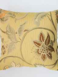 Jacquard Cushion Cover -Yellow