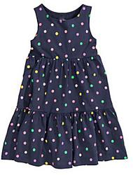 Girl's Black Dress,Dot Cotton Summer / Spring