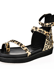 Women's Shoes Platform Wedges / Platform / Toe Ring / Gladiator Sandals Outdoor / Dress / Casual Black /AnimalPrint
