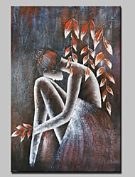 Hand-Painted Beauty Angel Girl Abstract Modern Oil Painting On Canvas One Panel With Frame Ready to Hang