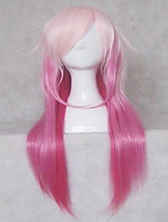 Popular Cosplay Wig Party Wigs Woman's Wigs Pink Long Straight Animated Synthetic Hair Wigs