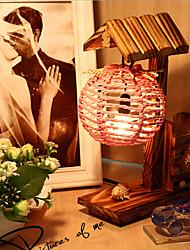 madeira criativo da casa com presente lâmpada quarto lâmpada decoração recipiente pena da mesa para o miúdo (cor aleatória)