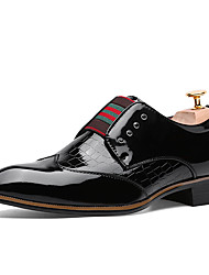 Men's Shoes Office & Career/Party & Evening/Casual Fashion Leather Oxfords Slip-on Shoes Black/Burgundy/Bule 38-43