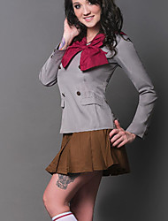 Inspired by Sailor Moon Sailor Mars Anime Cosplay Costumes Cosplay Suits Patchwork Gray Top / Skirt / Scarf / Socks