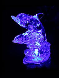 creativo abs colore che cambia la luce animale di cristallo di notte (colori assortiti)