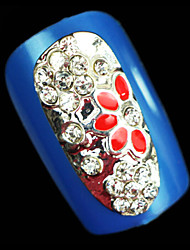 Lovely Mental Hollow Full Cover Drip / Drilling Nail Jewelry