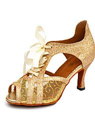Zapatos de baile(Negro / Blanco / Oro) -Salsa-No Personalizables-Tacón Stiletto