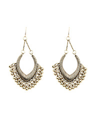 Fashion Women Vintage Metal Ball Drop Earrings