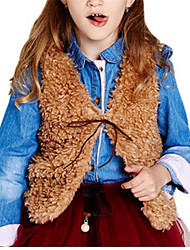 Solid Soft Cute Girls Vest