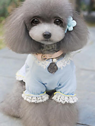 Dog Dress Blue / Pink Dog Clothes Summer / Spring/Fall Bowknot Wedding / Fashion