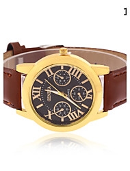 Men's Geneva New European Style Fashion Leather Business Wrist Watch Cool Watch Unique Watch