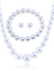 Fashion Summer Jewelry Pearl Jewelry Set Necklace/Earrings