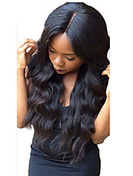 Middle Part Glueless Full Lace Human Hair Wig Brazilian Virgin Wavy Full Lace Wigs For Black Women With Baby Hair