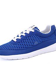 MasculinoArrendondado-Rasteiro-Preto / Azul / Azul Real-Tule-Casual / Para Esporte