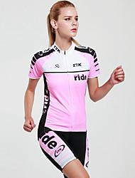 Mysenlan Keréspáros dzsörzé nadrággal Női Rövid ujjú Bike Ruházati kollekciókGyors szárítás Ultraibolya biztos Párásodás gátlás Magas