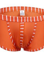 Men's Sexy Color Block Boxer Briefs Underwear Men's Lingerie