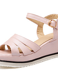 Women's Shoes Platform Wedges/Platform/Open Toe Sandals Office & Career/Dress/Casual Blue/Pink/White