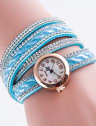 Women's European Style Simple Fashion Rhinestone Quartz Wrapped Bracelet Watch Cool Watches Unique Watches