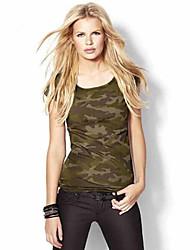 Damen Galaxis Übergröße / Street Schick Lässig/Alltäglich T-shirt,Rundhalsausschnitt Sommer Kurzarm Grün Baumwolle / Leinen Mittel