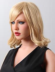 Enchanting Medium  Human Virgin Remy Hand Tied-Top Capless Hair Woman's Wig
