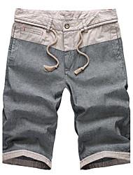 Summer linen trousers men's casual pants slim pants shorts Korean five pants size beach pants male tide