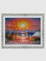ручная роспись пейзаж / цветочный / ботанический европейский стиль масляной живописи, холст одна панель