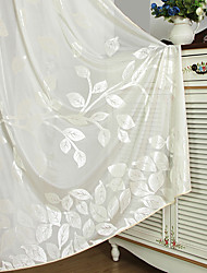 Deux Panneaux Rustique / Européen Tartan Comme image Salle de séjour Polyester Sheer Rideaux Shades