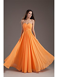 Vestido de noite formal com vestido de chiffon chiffon com uma linha e um vestido de noiva com criss cross