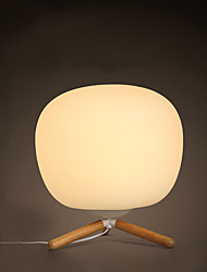 Lampe de table-Moderne/Contemporain-Bois/bambou-LED / Protection des yeux