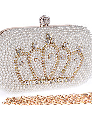 L.WEST® Women's Crown Pearl Inlaid Diamonds Party/Evening Bag