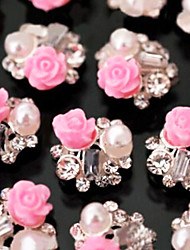 Lovely Mental Rose Nail Jewelry