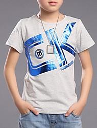Katoen-Zomer-Boy's-T-shirt-Print