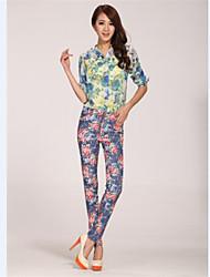Pantaloni Da donna Skinny Moda città Cotone Anelastico