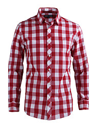 JamesEarl Herren Hemdkragen Lange Ärmel Shirt & Bluse Rot - DA112021901