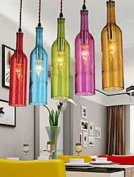 E27 5-15㎡ 220V Diffuse Light Clothing Store Coffee Color Restoring Ancient Ways Bottle Droplight  Pendant Lights LED