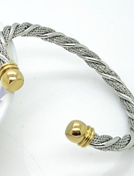 Stainless Steel Wire Knitted Cuff Bangle