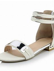 Women's Shoes Flat Heel D'Orsay & Two-Piece / Round Toe / Open Toe Sandals / Flats  / Dress / Black
