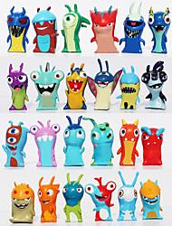 24pcs/set 5cm Anime Cartoon Slugterra Mini PVC Action Figures Toys Dolls Child Toys Gifts