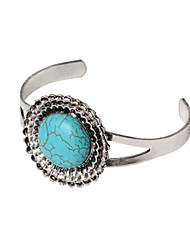 HUALUO®2016 Vintage turquoise bracelet Ms. wild round hollow Bracelet