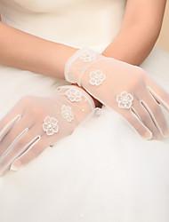 Wrist Length Fingertips Glove Nylon Bridal Gloves / Party/ Evening Gloves Spring / Fall / Winter Ivory Bow